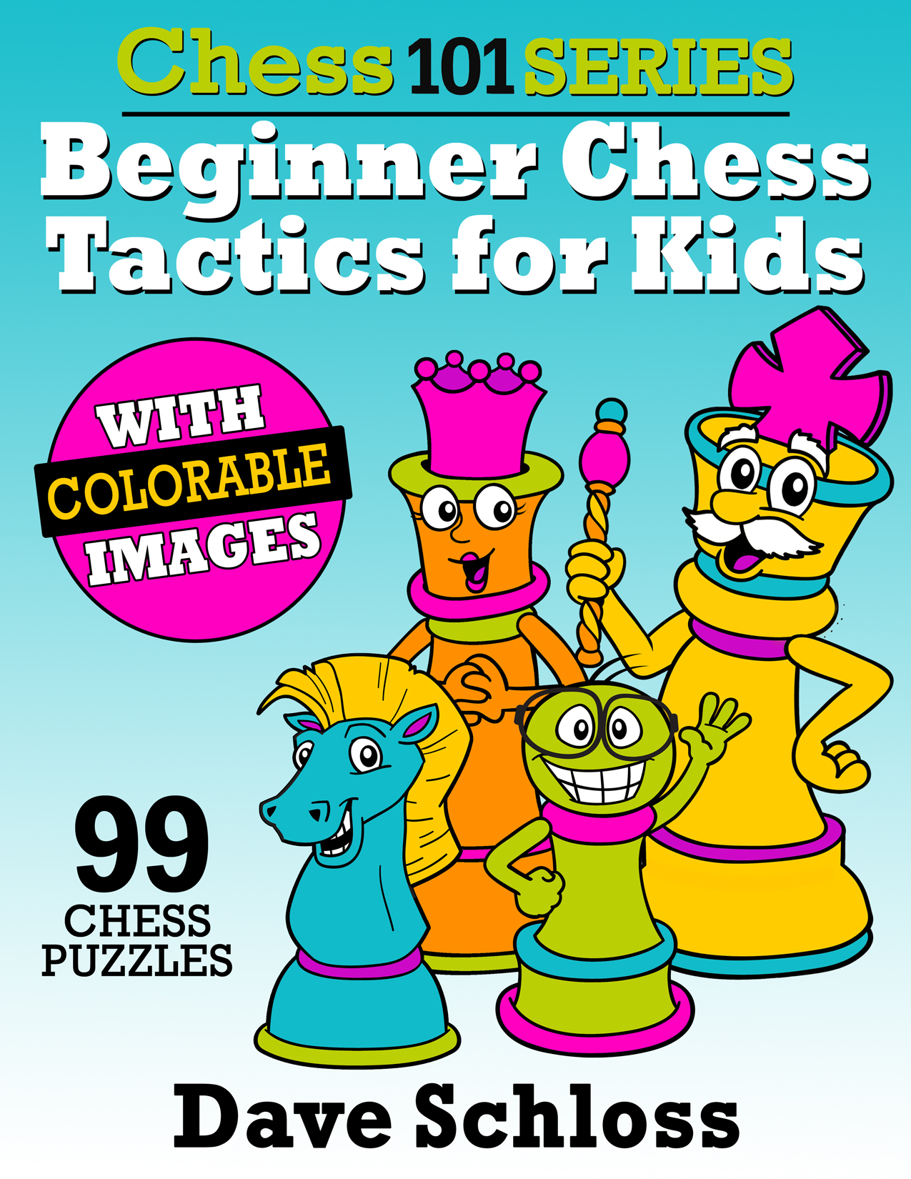 99 one-move chess tactics puzzles for kids rated 1,000 and below.